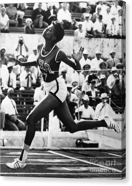 Finish Line Canvas Print - Wilma Rudolph (1940-1994) by Granger