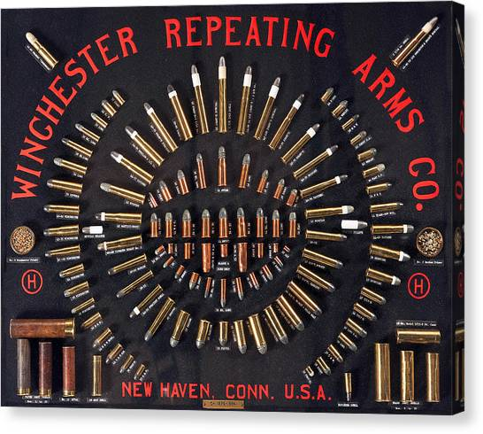 Winchester Repeating Arms Cartridge Board Canvas Print