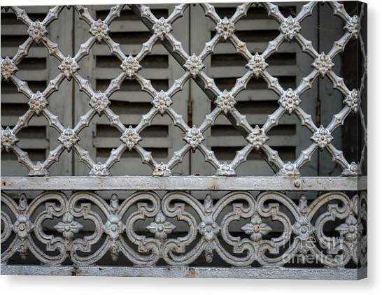 Grills Canvas Print - Window Grill In Toulouse by Elena Elisseeva