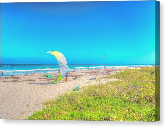 Windsurf Beach Canvas Print