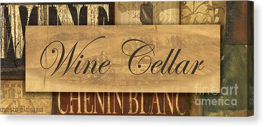 White Wine Canvas Print - Wine Cellar Collage by Grace Pullen