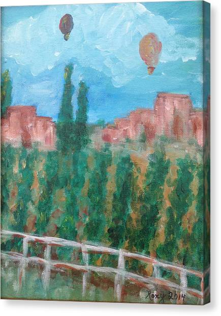 Hot Air Balloons Canvas Print - Wine Country by Roxy Rich