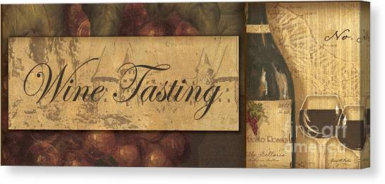 Winery Canvas Print - Wine Tasting Collage  by Grace Pullen