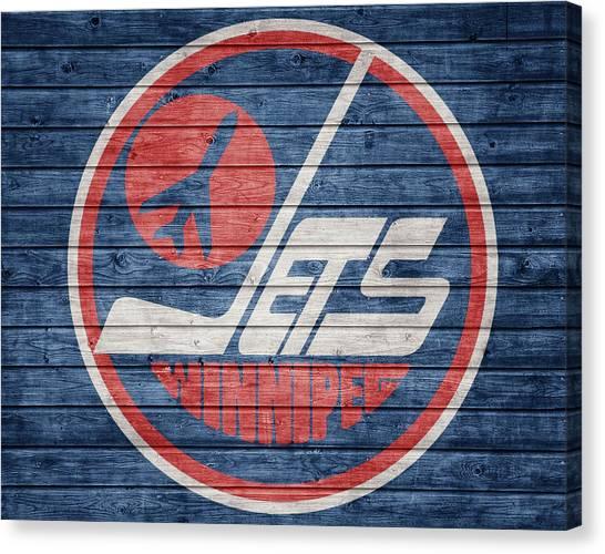 Winnipeg Jets Canvas Print - Winnipeg Jets Barn Door by Dan Sproul