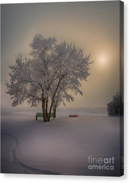 Saskatchewan Canvas Print - Winter Beauty by Ian McGregor