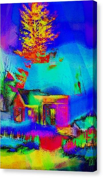 Contemporary Art Canvas Print - Winter by Contemporary Art