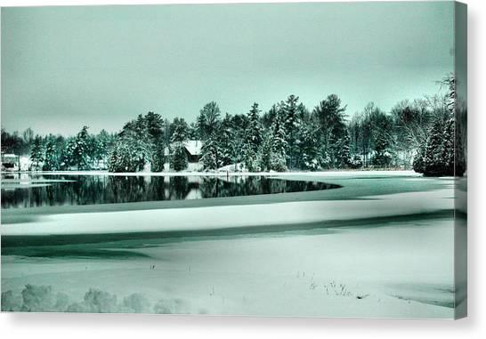 Winter Stream Canvas Print by Rick Couper