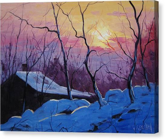 Homestead Canvas Print - Winter Sunrise by Graham Gercken