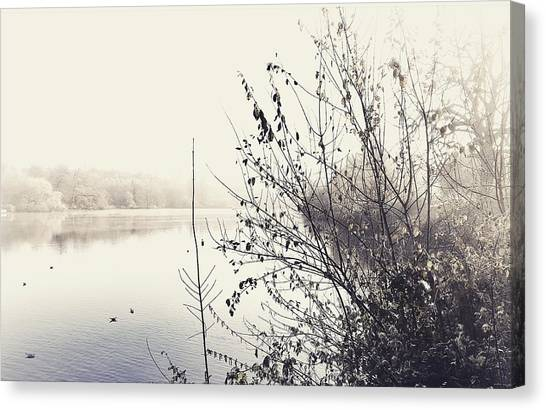 Winter's Morning At The Mote  Canvas Print by Stuart Ellesmere