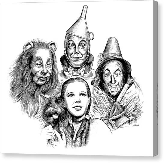 Wizard Canvas Print - Wizard Of Oz by Greg Joens