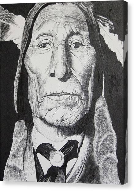 Wolf Robe Canvas Print