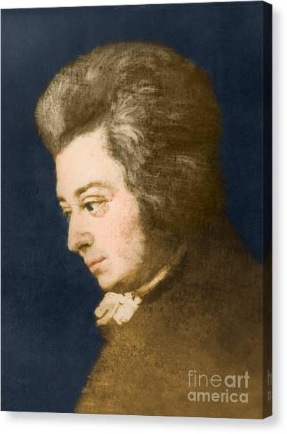 Notable Canvas Print - Wolfgang Amadeus Mozart, Austrian by Omikron
