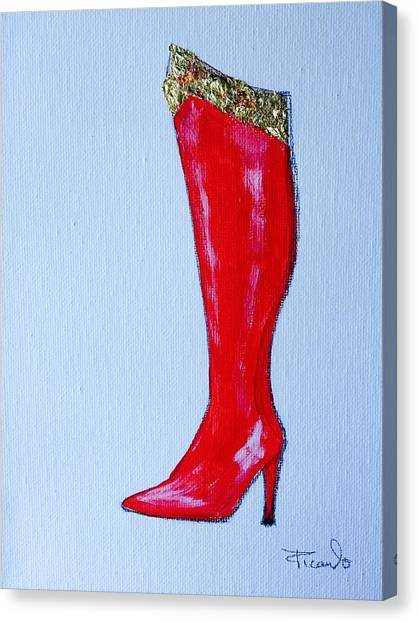 Wonder Woman's Boot Canvas Print