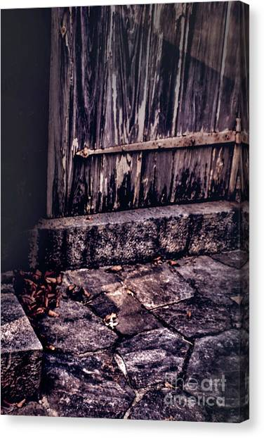 Wood And Stone Canvas Print