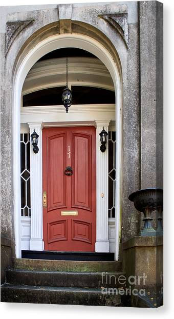 Wooden Door Savannah Canvas Print