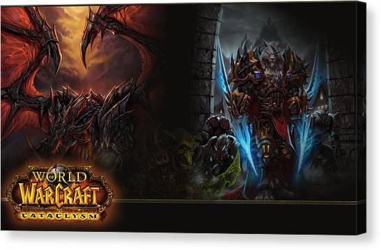 World Of Warcraft Canvas Print - World Of Warcraft Cataclysm by Super Lovely