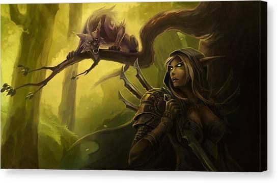 World Of Warcraft Canvas Print - World Of Warcraft by Tatiania Laning