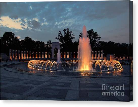 World War II Memorial Fountain Canvas Print