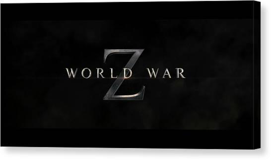 World War Z Canvas Print - World War Z by Winna Perlin
