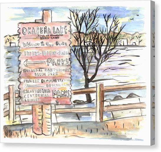 Worthington Sign Canvas Print