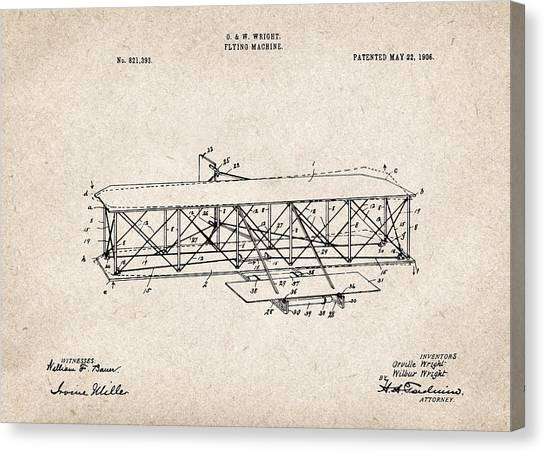 Airplane blueprint canvas prints page 10 of 19 fine art america airplane blueprint canvas print wright brothers flying machine patent drawing for the 1906 orville malvernweather Images