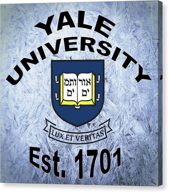 Yale University Canvas Print - Yale University Est 1701 by Movie Poster Prints