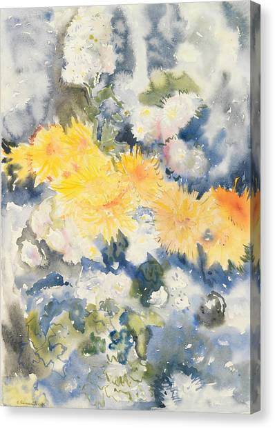 Precisionism Canvas Print - Yellow And Blue by Charles Demuth