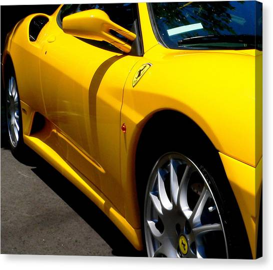 Yellow Ferrari Canvas Print