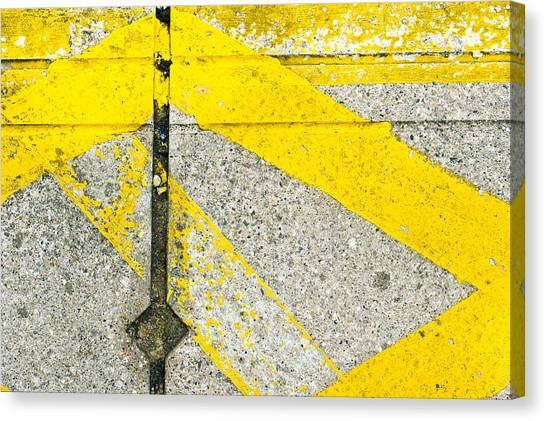 Caution Canvas Print - Yellow Lines by Tom Gowanlock