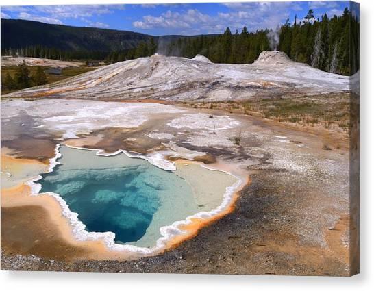 Yellowstone Geyser Canvas Print by Patrick  Flynn