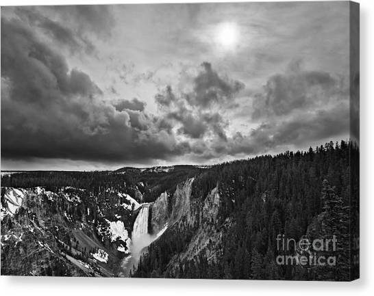 Thunderclouds Canvas Print - Yellowstone Storm by Jamie Pham