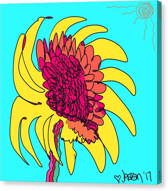 Yes. This Is A Flower, Child Canvas Print