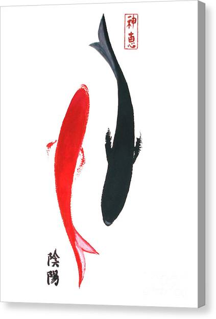 Yin And Yang Canvas Print by Sibby S