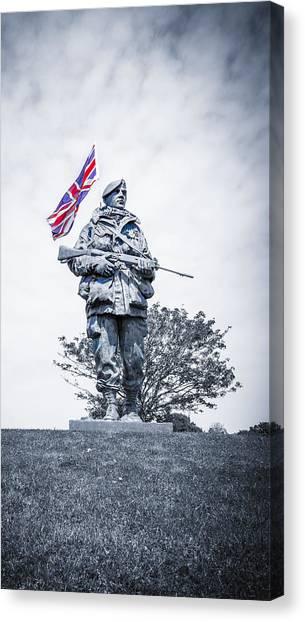Royal Marines Canvas Print - Yomper by Angela Aird