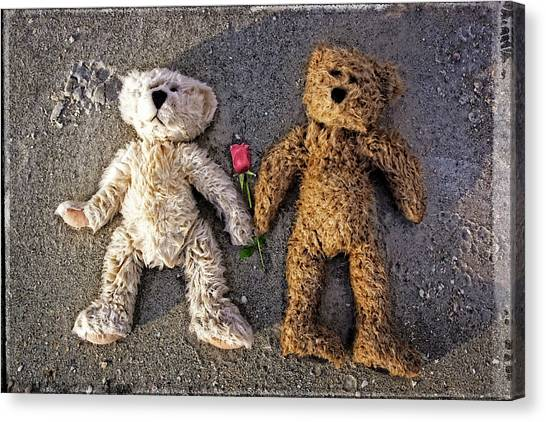 Teddybear Canvas Print - You Are The One - Romantic Art By William Patrick And Sharon Cummings by Sharon Cummings