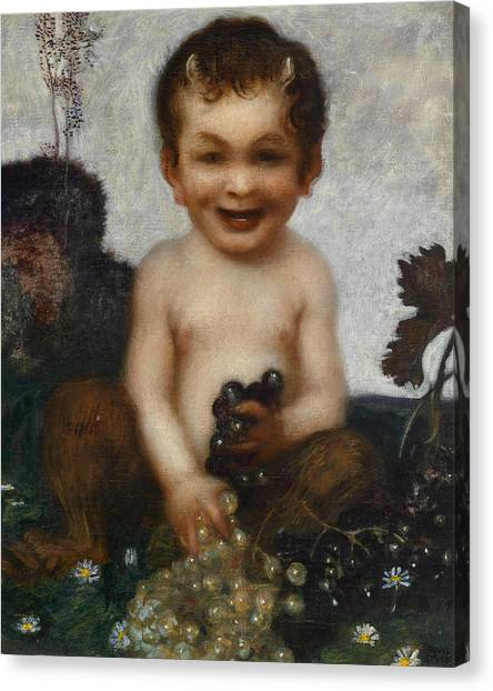 Faun Canvas Print - Young Faun by Franz von Stuck