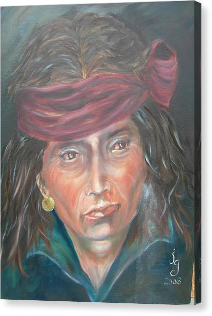 Young Navjo Canvas Print by Judie Giglio