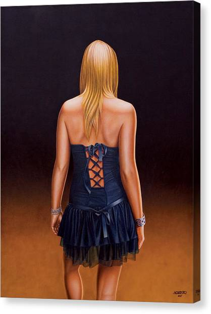 Back Canvas Print - Youth And Beauty by Horacio Cardozo