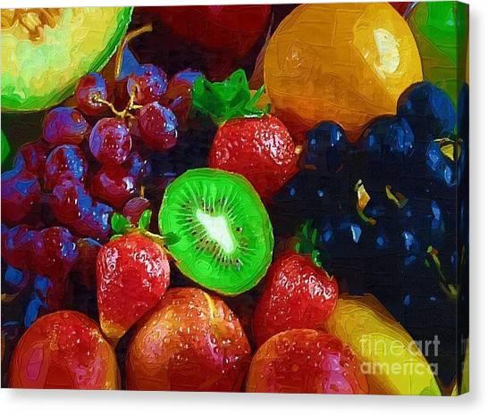 Yummy Fresh Fruit Canvas Print by Deborah Selib-Haig DMacq