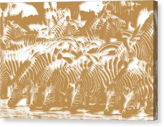 Mount Kilimanjaro Canvas Print - Zebra 3 by Joe Hamilton
