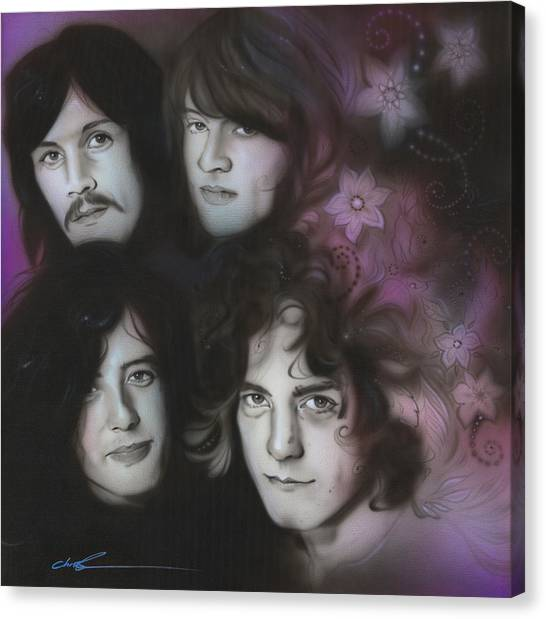 Robert Plant Canvas Print - Zeppelin by Christian Chapman Art