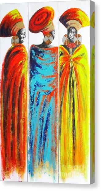 Zulu Ladies 2 Canvas Print