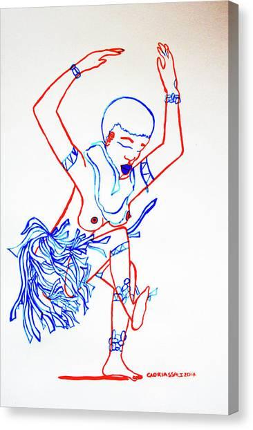 Zulu Traditional Dance South Africa Canvas Print