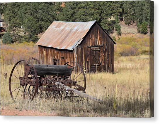 Seed Tiller - Barn Westcliffe Co Canvas Print