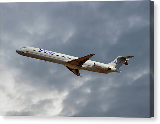 Md Canvas Print - Alk Airlines Mcdonnell Douglas Md-82 by Smart Aviation