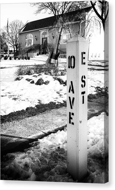 10 Ave And E St Belmar New Jersey Canvas Print