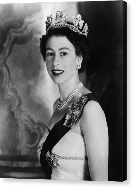 Queen Elizabeth Canvas Print - British Royalty. Queen Elizabeth II by Everett