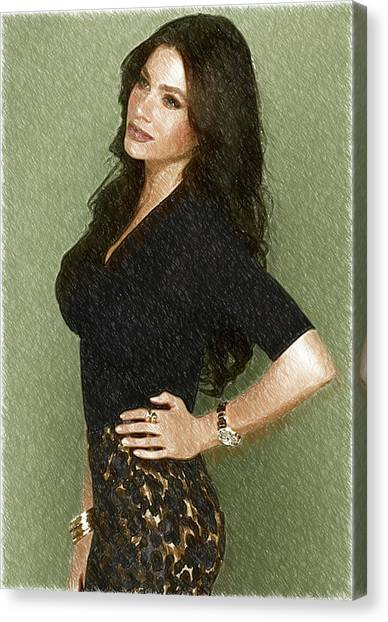 Shakira Canvas Print - Celebrity Sofia Vergara  by Elizabeth Simon