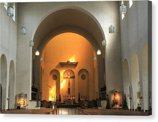 Vault Canvas Print - Church by Jackie Russo