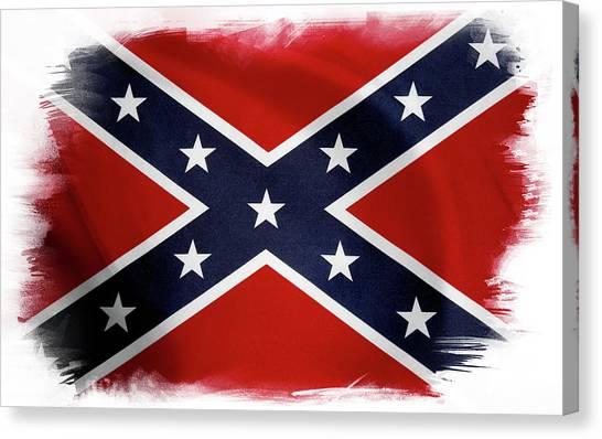 Confederate Flag 10 Canvas Print